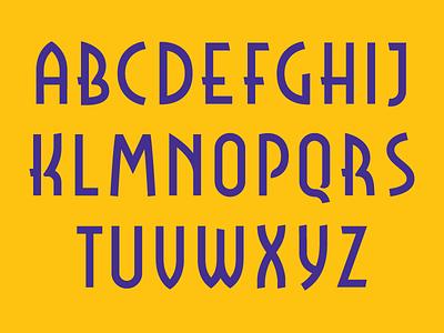 Rosendahl Majuscule upper case type font majuscule deco art deco typography typeface