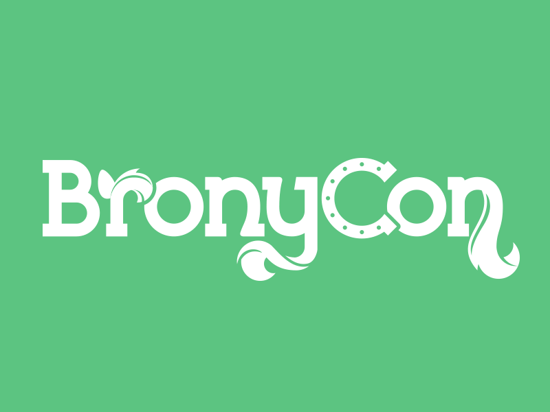 Bronycon Wordmark bronycon brony mlp logo convention horseshoe ponies