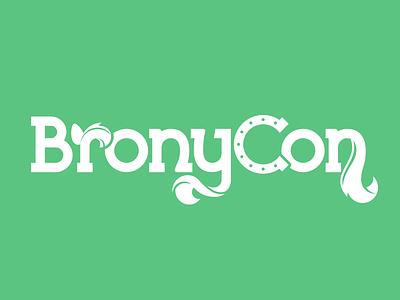 Bronycon Wordmark bronycon brony mlp logo convention horseshoe ponies