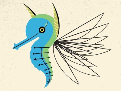 A Furious Flitter modern illustration imaginary fauna riven myst