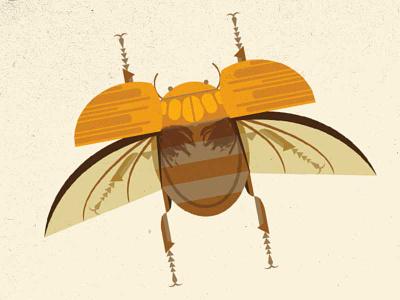 The Golden Scarab scarab beetle modern illustration imaginary fauna riven myst