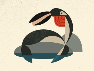 A Sleepy Sunner modern illustration sunner imaginary fauna riven myst