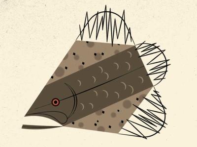 A Wild Webber modern illustration fish imaginary fauna riven myst