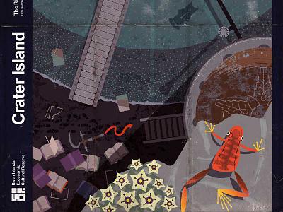 Riven—Crater Island modern illustration imaginary fauna riven myst