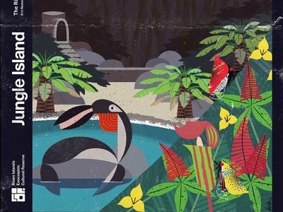 Riven—Jungle Island modern illustration imaginary fauna riven myst