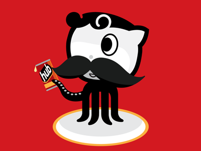 Oh boy, what a fork! github natty boh octocat octoboh boh baltimore code beer portfolio