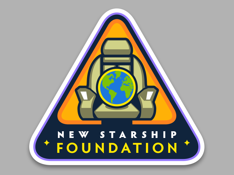 New Starship Foundation star trek logo enterprise portfolio badge mission patch insignia