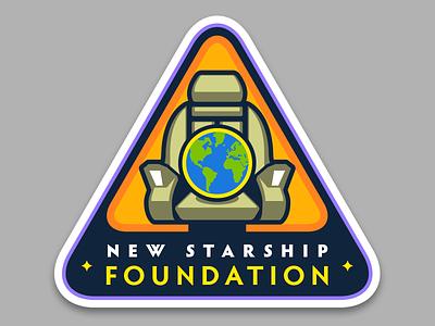 New Starship Foundation star trek logo enterprise portfolio badge mission patch insignia