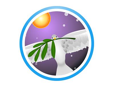 Peace—Fragile Oasis Badge fragile oasis badges nasa peace portfolio