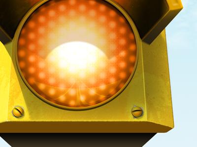 Orange Light icon traffic traffic light ios app