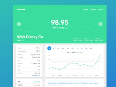 Google Finance Material Design firstshot mockup ui web ui charts finance websites material material design web design