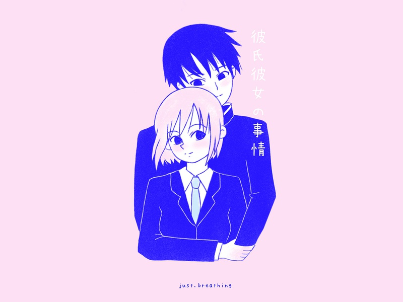 KareKano couple cute art procreate pastel minimal mangaart manga kawaii japanese culture japanese illustration digital illustration drawing digital cute character anime