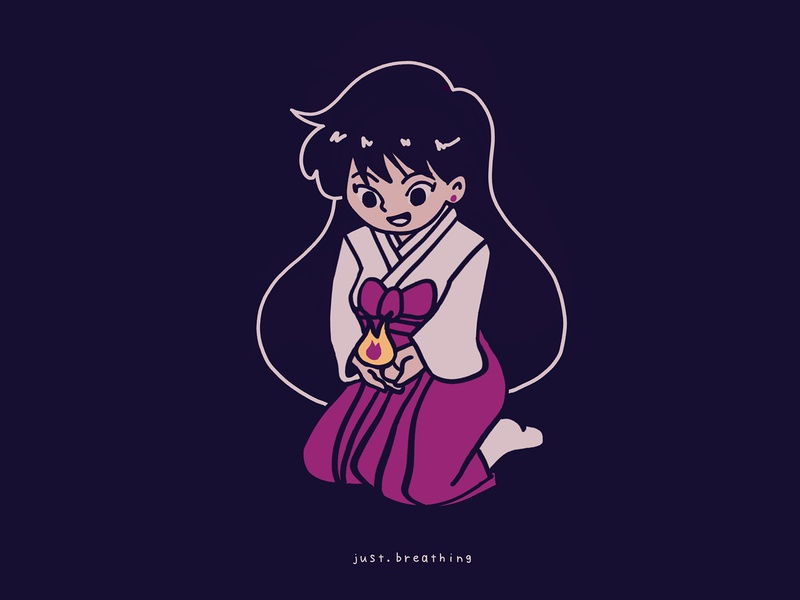 Rei Hino digitalart procreate sailor mars kawaii minimal manga sailor moon sailormoon anime japanese japan digital flat cute character drawing illustration