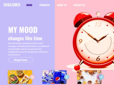 Landing Page Design mood landing page