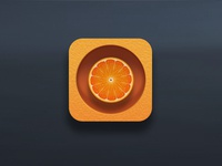 Dribbble Shot Orange Icon