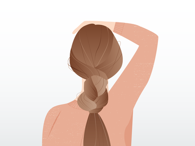 Dream Hair girl braid illustration character hair lady woman