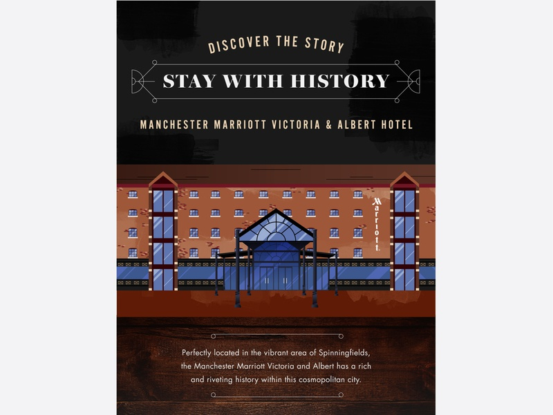 Manchester Marriott Victoria and Albert Hotel 1 warehouse texture infographic illustration building architecture hotel
