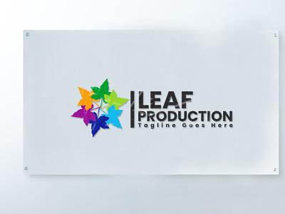 Leaf Production Logo Design construction logo facebook cover socialmedia branding design logo minimalist logo design corporate design branding brand identity