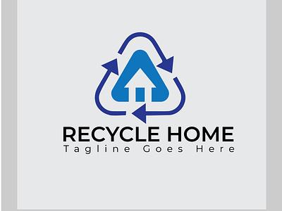 Recycle Home Logo Design logofolio flat logo modern logo recycle logodesign branding design logo minimalist logo branding brand identity