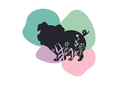 Floral Pig pig art creative art creative design floral illustrations illustrations animal illustration piggy