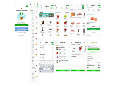 Grocery App Visual Design online delivery delivery app brand design redesign concept ui  ux design instacart app visual design ui design design app ui ux market app instacart grocery list grocery online grocery app uidesign