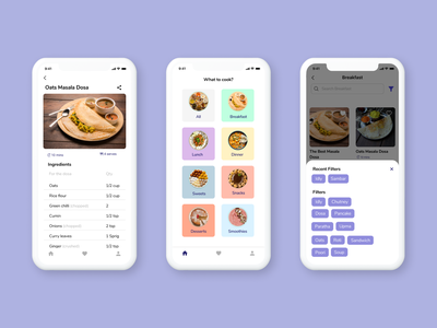 """""""What To Cook"""" App Design chef guide app mothers guide cooking guide cooking idea idea for cooking receipt app what to cook mobile app ui screens mobile app design visual design ui design ui app design design"""
