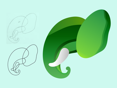 Elephant Logo Design elephant logo design graphic design 3d illustration minimal logo design animal logo design elephant logo animal logo logo design branding logo ui