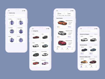 Car Rental App car rent mobile app design app designs ui screens car rent app design car rental app car app design car app mobile app screens mobile app design app design branding ui