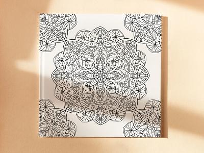 Mandala coloring book graphic design design branding illustration coloring page coloring line art vector