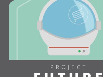 Tech Teams - Project Future sticker helmet astronaut hexagon open sans