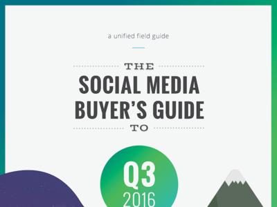 2016 Q3 Social Media Buyers Guide open sans magazine oswald vast shadow