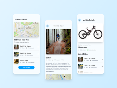 Biking Assistant App mobile app design mobile ui mobile app product bike app bike mountain bike ios product design user experience mobile interface user interface web app prototype ux ui design