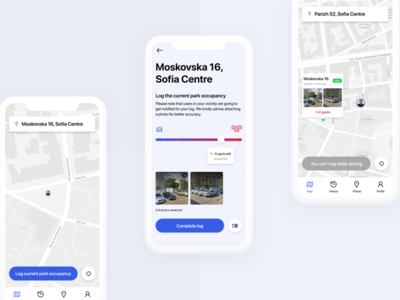 Car Parking App mobile mobile ui design flat mobile ui car app parking app application design application ux user interface interface app motion design web ui