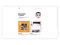Dribbble Personal Site Wip