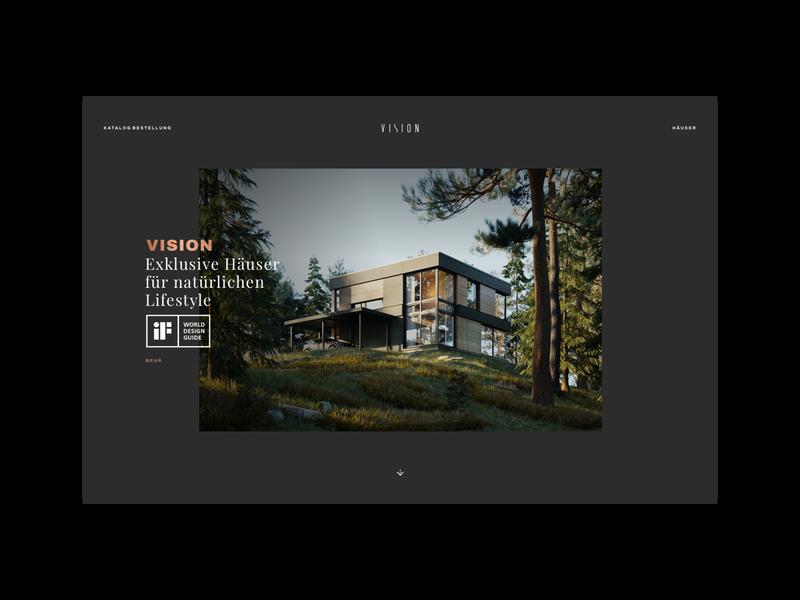 VISION - website web design web webdesign layout homepage website syzygywarsaw syzygy