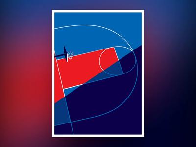 Malika Favre — HOOPS — animation illustration animation animation basket ball court streetball basketball illustraion faver malika print