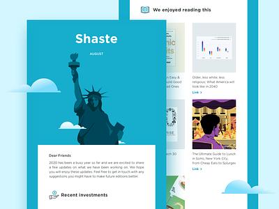 E-Mailer - Shaste marketing agency startup campaign graphicdesign designs marketing material marketing campaign web icon marketing fintech mailer website illustration design