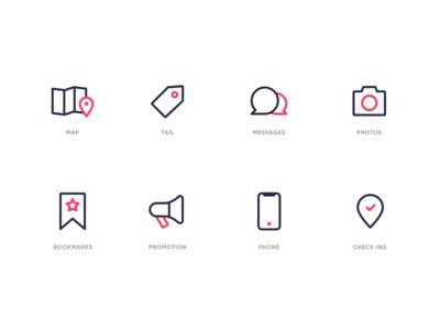Food app Iconography
