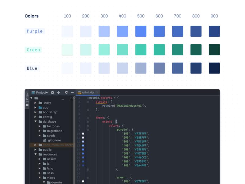 provider-vergelijker.nl - Design color system provider-vergelijker.nl blue green purple phpstorm design color system color tailwind design system
