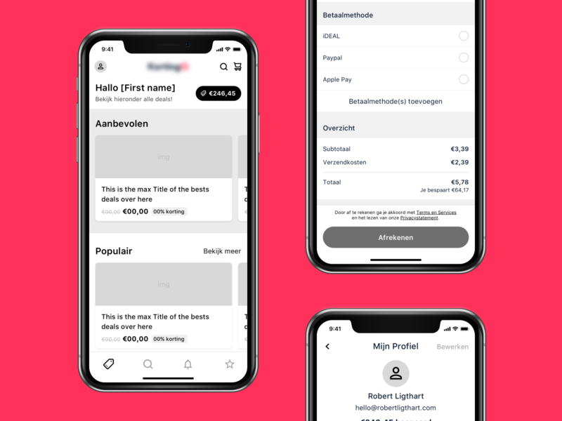 Wireframes - Coupon deal iOS app design ux ui wipe concept wireframing deals coupon ios app ios wireframes