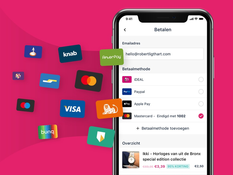 KortinQ - Pay methods cards discount kortinq marketing paymethods pay mobile ios apps ux ui