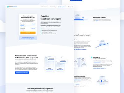Zakelijkbankieren.nl - Business mortgage request vector illustration illustrations business ux ui branding blue animation design website