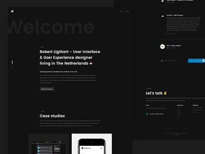 robertligthart.com web design dark-theme ux ui design robertligthart.com personal portfolio
