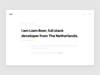 Liam Boer portfolio web design