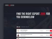 Esports jobs web design concept