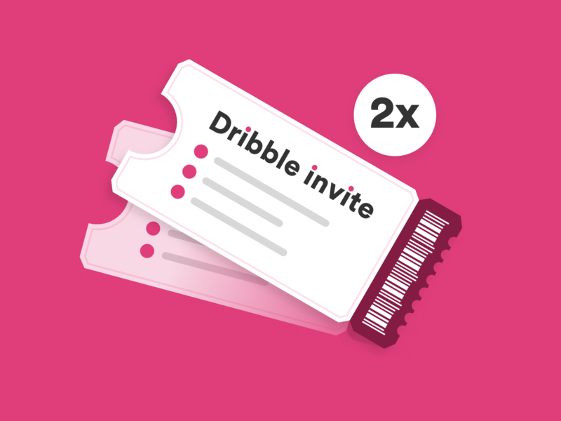 Two Dribbble invites giveaway 2 times 2x visual illustration clean dribbble invitation giveaway invite dribbble invite dribbble