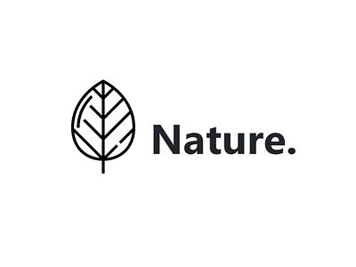 nature svg flat icon typography branding vector minimal logo illustrator illustration design