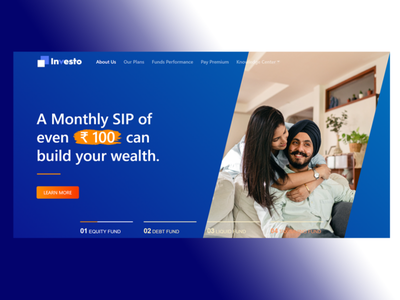 Investo Mutual Fund | Bootstrap 5 Layout corporate funds mutual fund investment bootstrap5 bootstrap website design and development ui ux landing page design landing page design