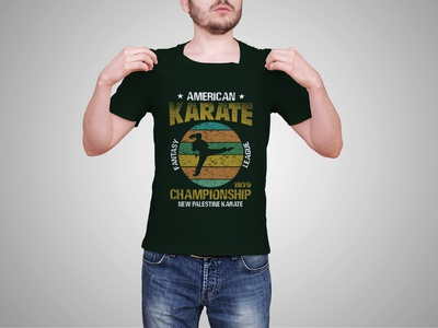 American Karate Championship League T shirt Design design tshirt tshirtdesign designs tshirts tshirt design tshirt designer merch by amazon tshirt art tees karate t-shirt karate martial art martial arts martial arts shirt blm judo shirt design designer