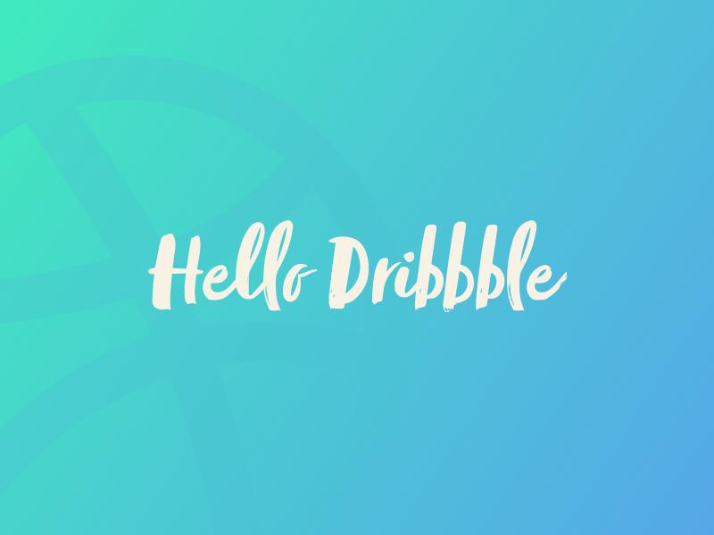 Hello Dribbble!! sort first